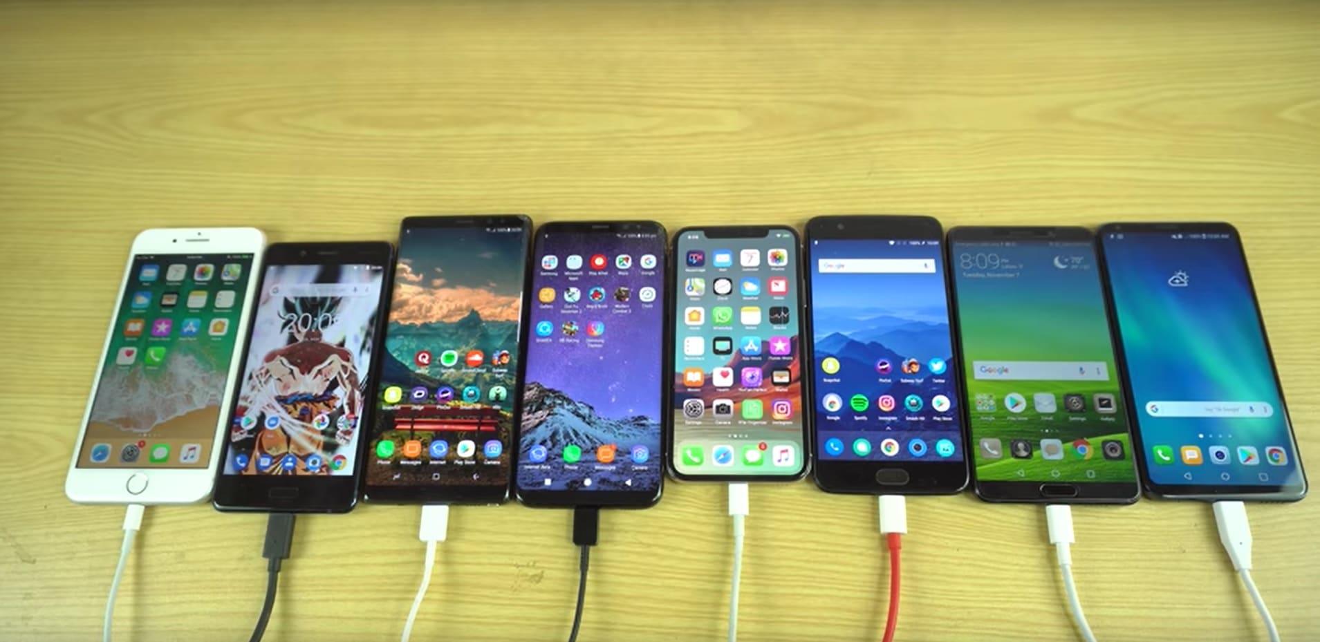 Des smartphones à la charge